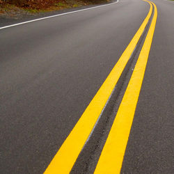 Yellow Thermoplastic Road Marking Service