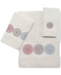 Cotton Plain Embroidered Bath Towel