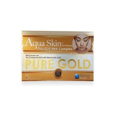 Aqua Skin Pro Q10 Rna Complex Pure Gold Glutathione Skin Whitening 24  Sessions Injection