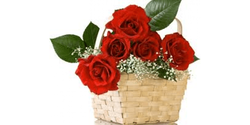 Lovely Roses Basket