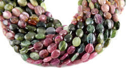Tourmaline Smooth Oval Shape Beads