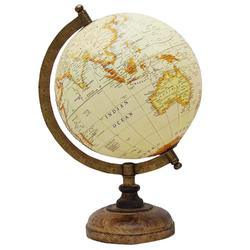Ocean Geography Vintage Wooden Design World Globe
