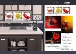 Zelos Ceramic Designer Kitchen Tile, Thickness: 5-10 mm, Packaging Type: Carton Box