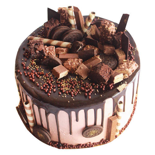 Vanilla Birthday Cake Decorated With Chocolates