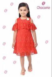 Semi Party Wear Lace Dress, Size: XS-XXL(12-22)