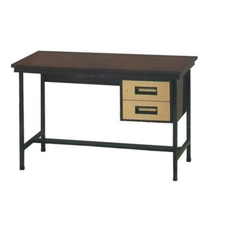 Two Drawer Metal Table