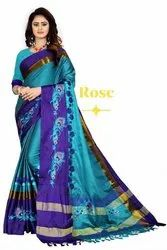 Party Wear Soft Cotton Silk Saree
