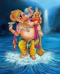ganesh oil painting