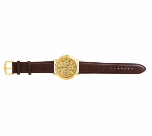 Brown And Golden Round Wrist Watches