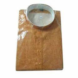Brown Nehru Mens Designer Khadi Kurta, Size/Dimension: 44