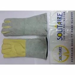 Palm Kevlar And Leather Heat Resistant Hand Gloves