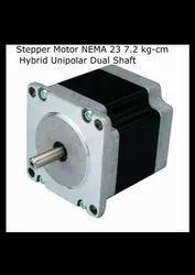 Stepper Motor NEMA 23 7.2 kg-cm Hybrid Unipolar Dual Shaft -  Robocrze