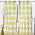 Light Yellow Printed Cotton Curtain