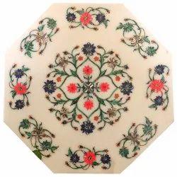 Handmade Marble Inlay Coffee Table Top