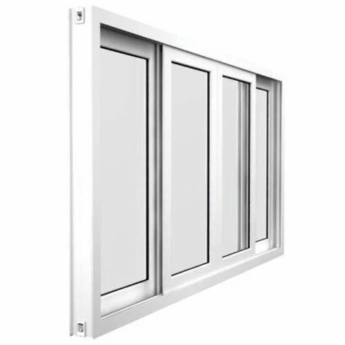 White Frame Aluminium Window, Aluminium Glass Window, Aluminum ...