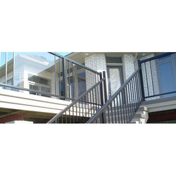 Silver Outsider Stainless Steel Stair Railing