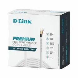 D-Link DCC-WHI-180-3 Premium High Performance CCTV Cable