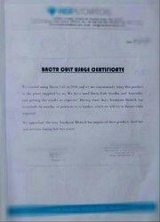 Bacta Cult  Usage Certificate