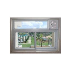 RADIUS Residential uPVC Window with Exhaust Fan, Glass Thickness: 8 Mm