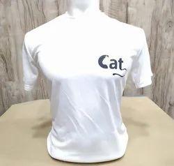 Men White Round Neck T Shirt