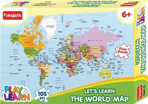 P l world map puzzle puzzles board educational games pankaj p l world map puzzle gumiabroncs Gallery