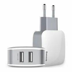 Baseus Letour 2.4A Dual USB Port Travel Charger Adapter