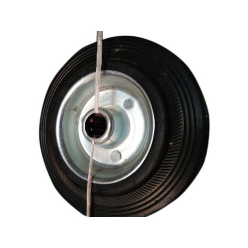 Air Rubber Trolley Caster Wheels, Size: 6x1-1/4 Inches