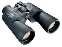 Olympus and Nikon black Binocular