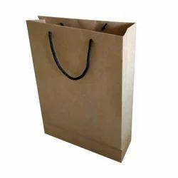 Brown Logo Printed Paper Bag, For Shopping, Capacity: 5kg
