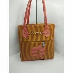 Brown Nylon Ladies Designer Handbag