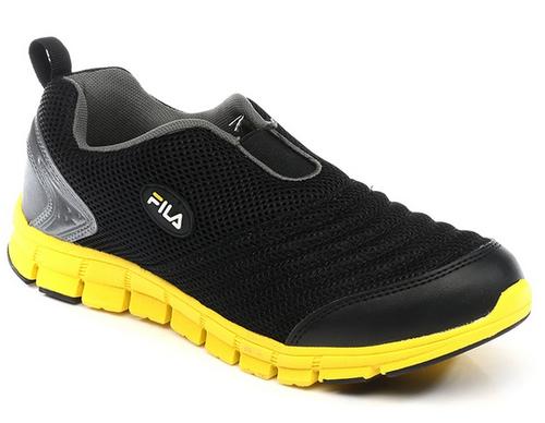 a9d25ecc738f Synthetic Leather Fila Black Smash Lite Casual Shoes
