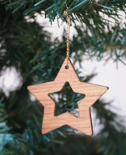 Wooden Christmas Decorations.Wooden Christmas Star