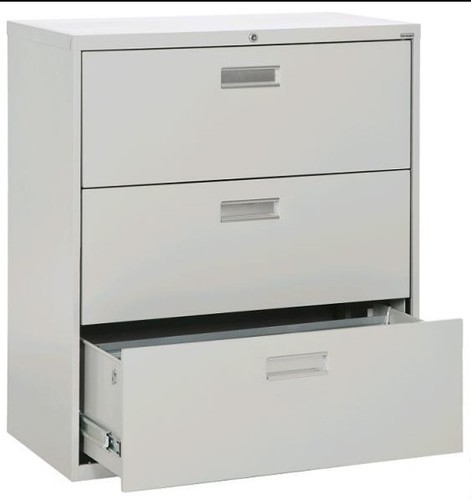 Steel 3 Drawer Horizontal File Cabinet