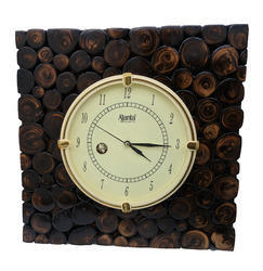 Analogue Wood Designer Wooden Wall Clock, Size: 16x16x0.5 Inches
