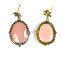 Pave Diamond Chalcedony Gemstone Sterling Silver Earring