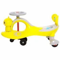 Baybee Bingo Free Twister Magic Swing Car Ride on for Kids with LED Lights & PU Wheels