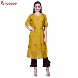 Gorgy Embroided Kurta Palazzo