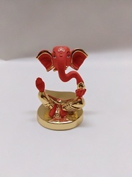 Red Color Ganesha Statue