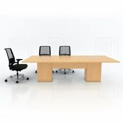 Rectangular Modern Conference Table for Corporate Office, Warranty: 1 Year