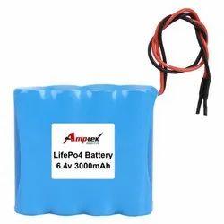 Lifepo4 Battery Pack 6.4V 3000 Mah