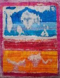 Handmade Wool Sari Silk Floor living Room Area Carpet