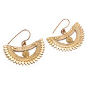 Half D Design Hook Earring Brass Bali Micron Gold Plated Awesome Jewelry