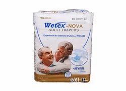 Wetex Nova Adult Diaper Xl (10 Pcs Pack), For 39-64 Inch