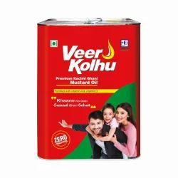 15L Veer Kolhu Premium Kachhi Ghani Mustard Oil
