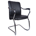 Black The Invitado Mid Back Guest Chair