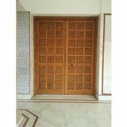 Sagwan Wooden Double Doors in Kurukshetra