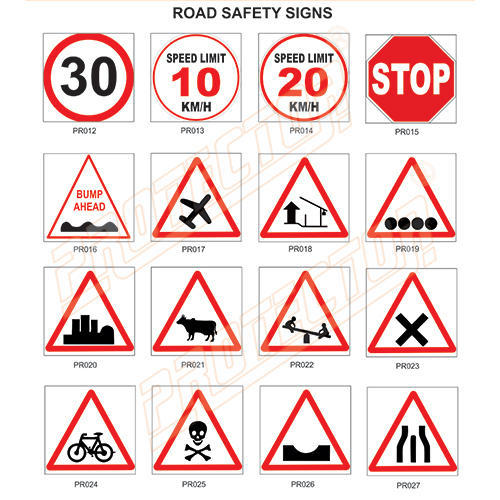 Round Retro Reflective Road Safety Sign Rs 704 Piece