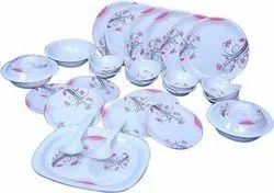 Delta Dinner Set of 32 Pieces with Floral Prints