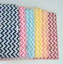 Hand Block Zig Zag Printed Fabric