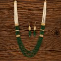 Antique Gold Plated Long Necklace Set 200510, Size: Length = 22 Inch